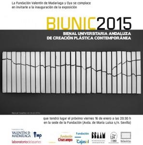 BIUNIC 2015. Bienal Universitaria Andaluza de Creación Plástica Contemporánea