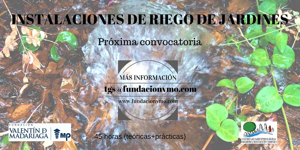 Instalaciones de riego de jardines fundacionvmo for Riego de jardines